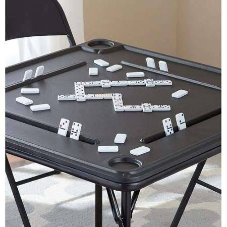 Mainstays Folding Game Table Walmart Com Domino Table Table Games Card Table Makeover