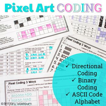 Pixel Art Coding - 3 unplugged computer science lessons - #Coding #computer #lessons #pixel #science