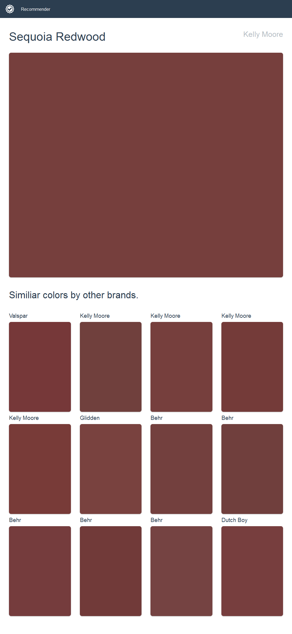 Sequoia Redwood Kelly Moore Click The Image To See Similiar Colors By Other Brands Kelly Moore Paint Glidden Paint House Paint Exterior