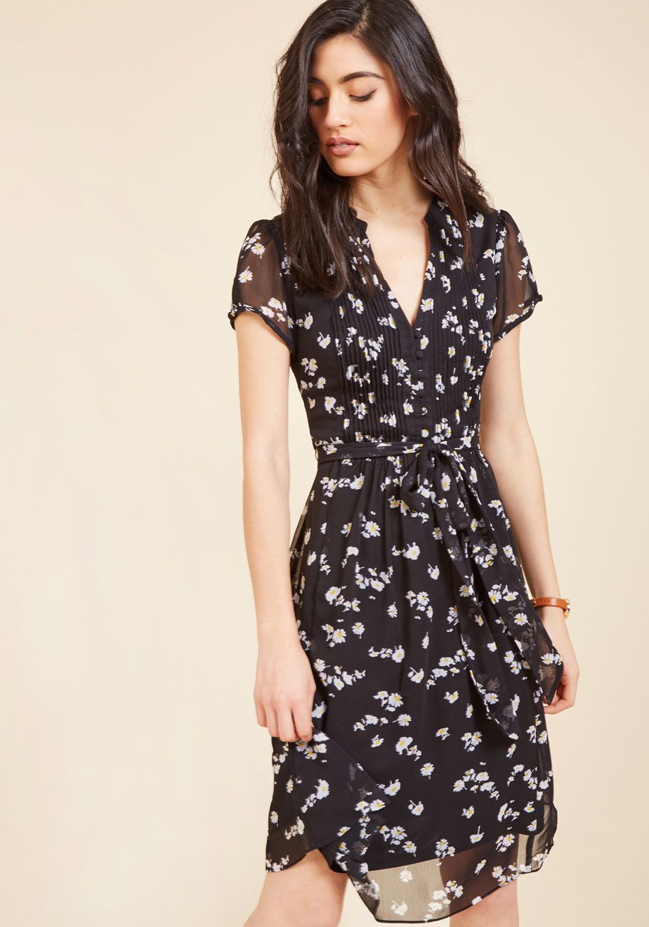 Ladies Who Launch A-Line Dress in Noir Blossom  82f710382
