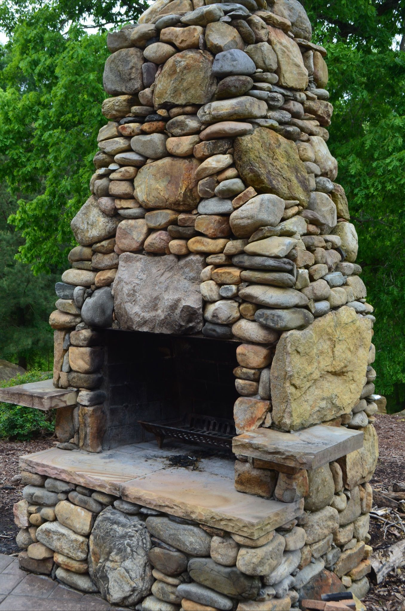 Outdoor Spaces with Fireplaces | Outdoor Fireplace ... on Custom Outdoor Living Spaces id=47026