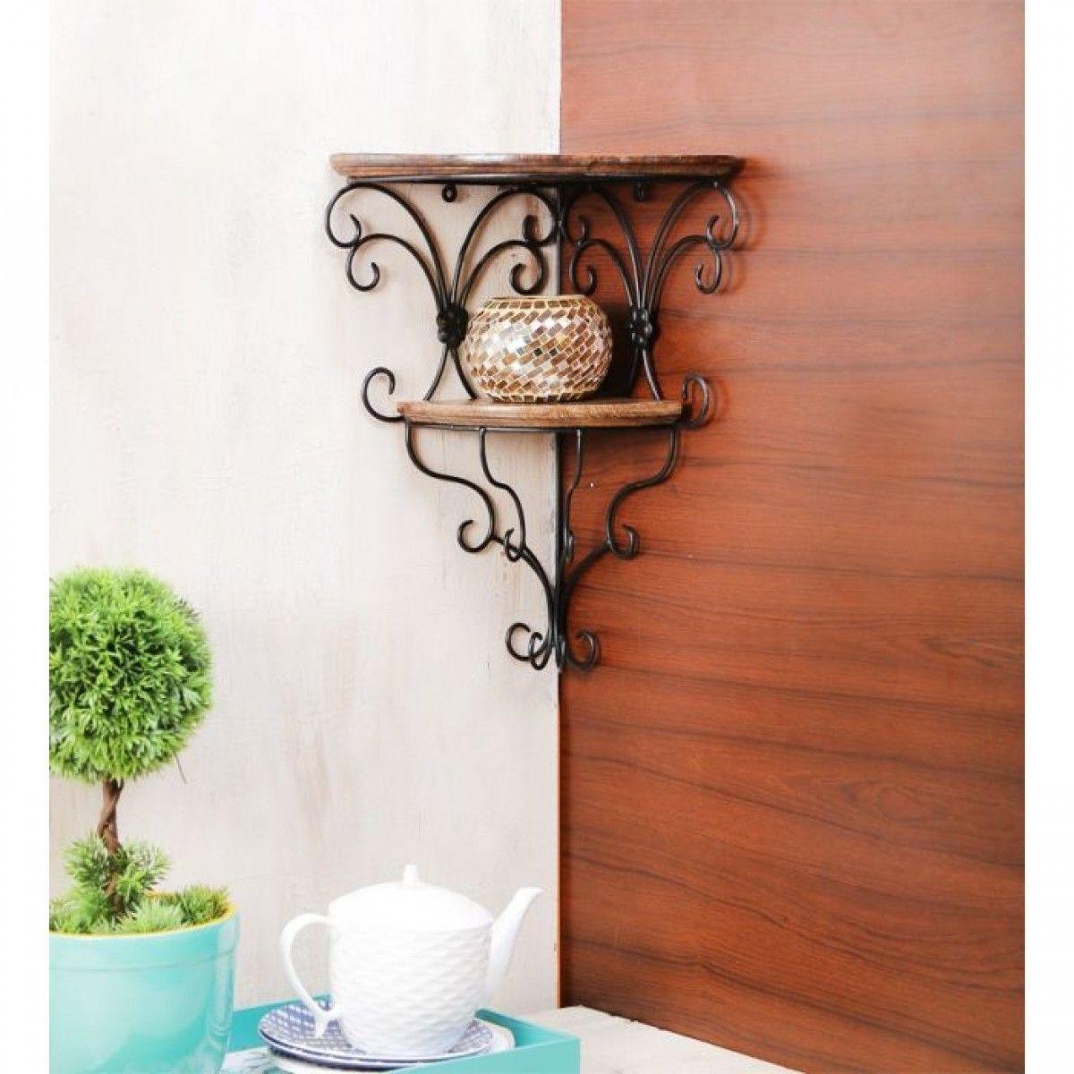 Hand carved shelf key hanger doorbell and