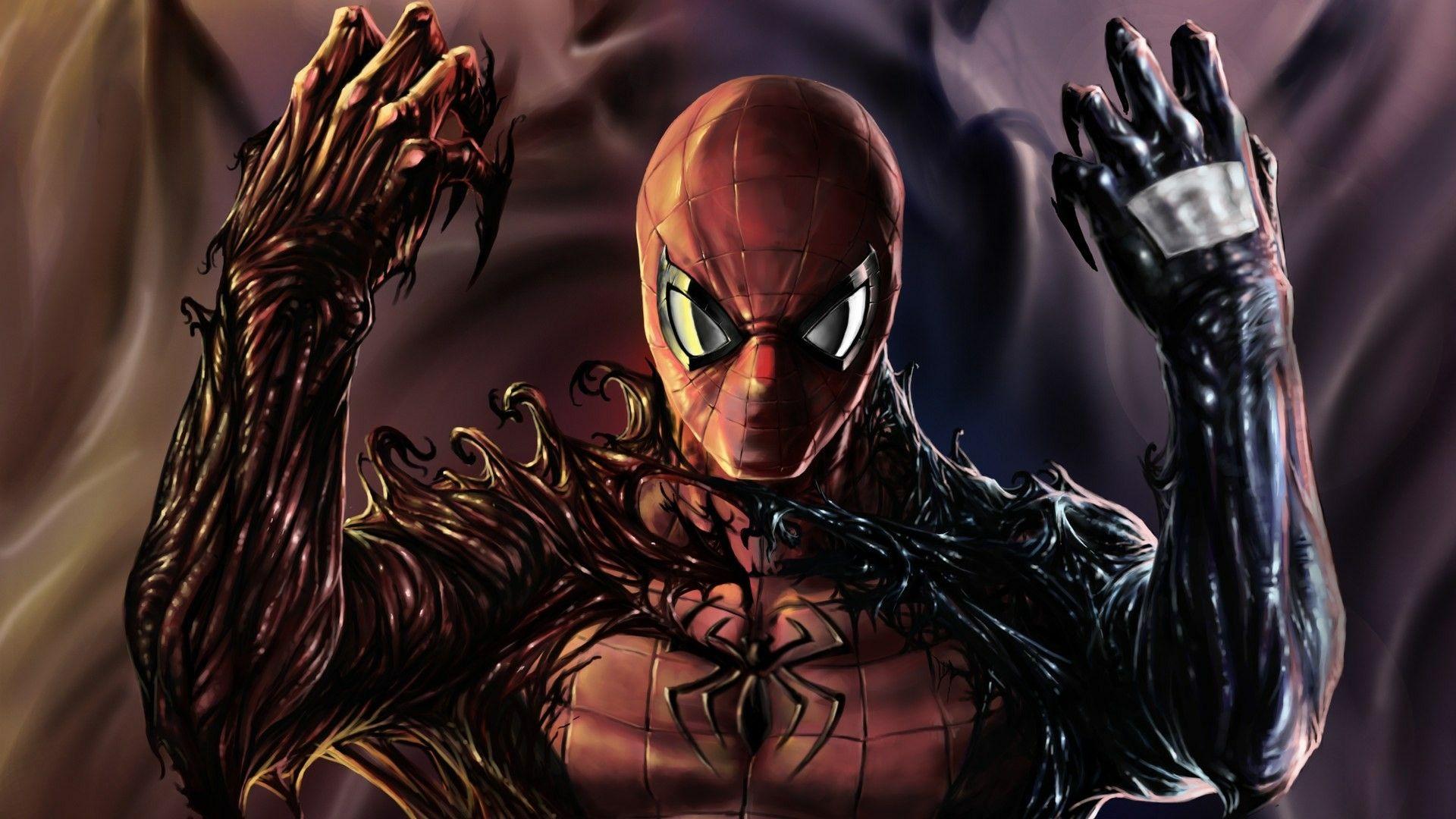 Spiderman Y Los Simbiontes De Carnage Y Venom Spiderman