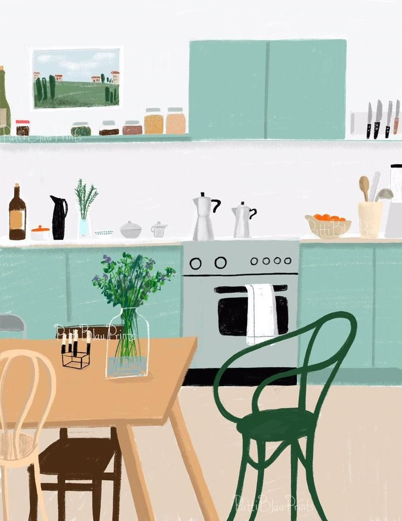 Italian Kitchen In 2019 Art Drawings For Kids Kitchen