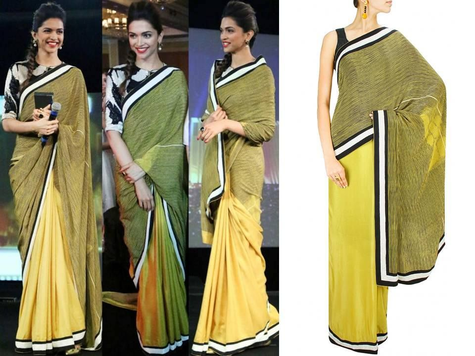 a233ca99a94d79 GET THIS LOOK Deepika Padukone looks absolutely ethereal in this simple yet  elegant saree by Dev r Nil. #CELEBRITYSTYLE #DESIGNER #GORGEOUS #COLLECTION  ...