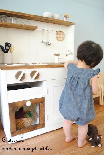 Photo of 『2WAYままごとキッチン作りました&掲載誌のお知らせ*簡単木工家具STYLE』