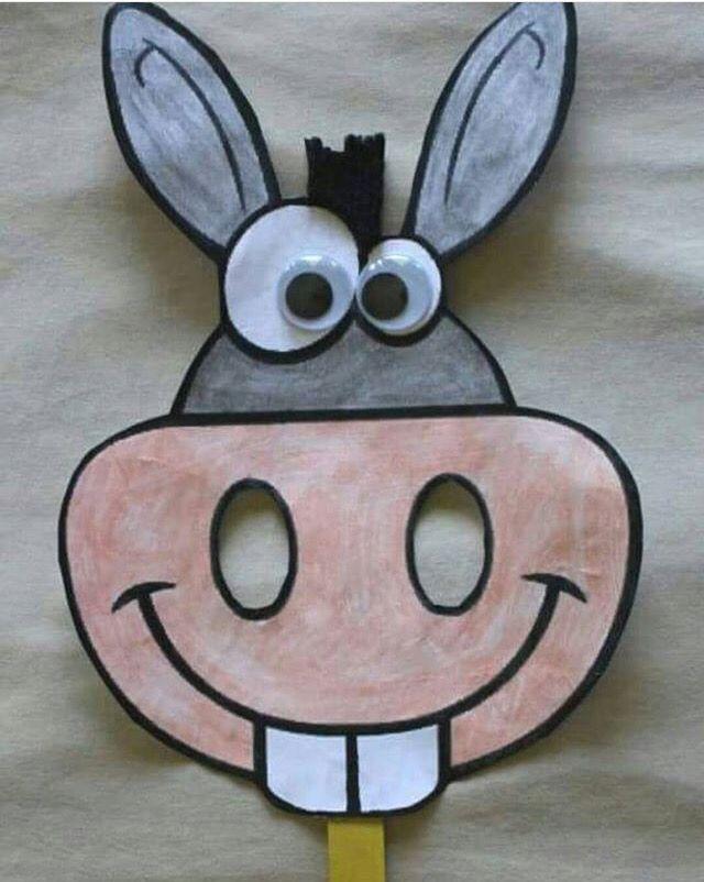 Esek Maskesi Pazar Okulu Paskalya Elisleri Cocuklar Icin Sanat