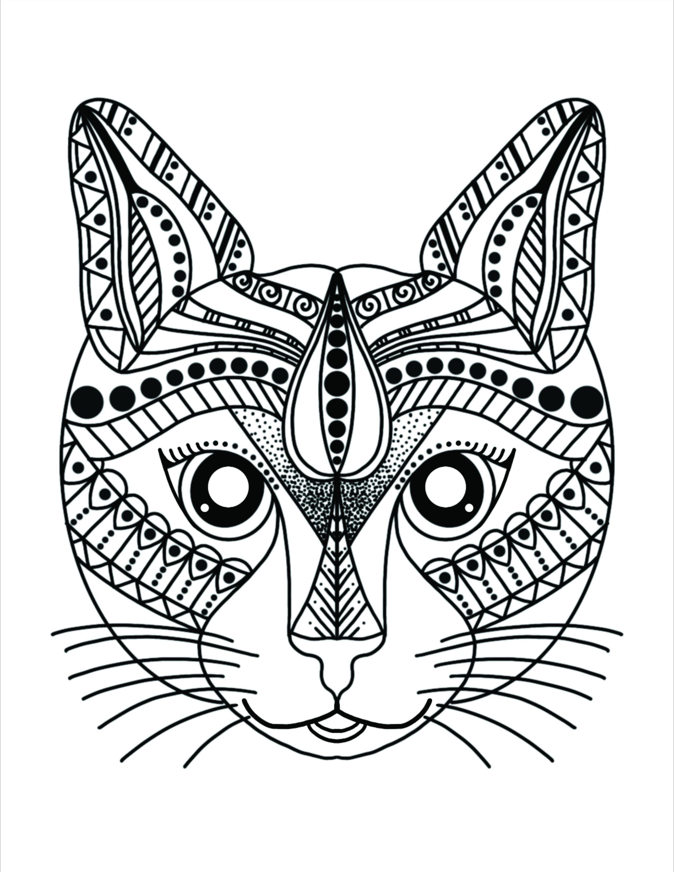 katze zum ausmalen  katzenmandalas  katze zum ausmalen