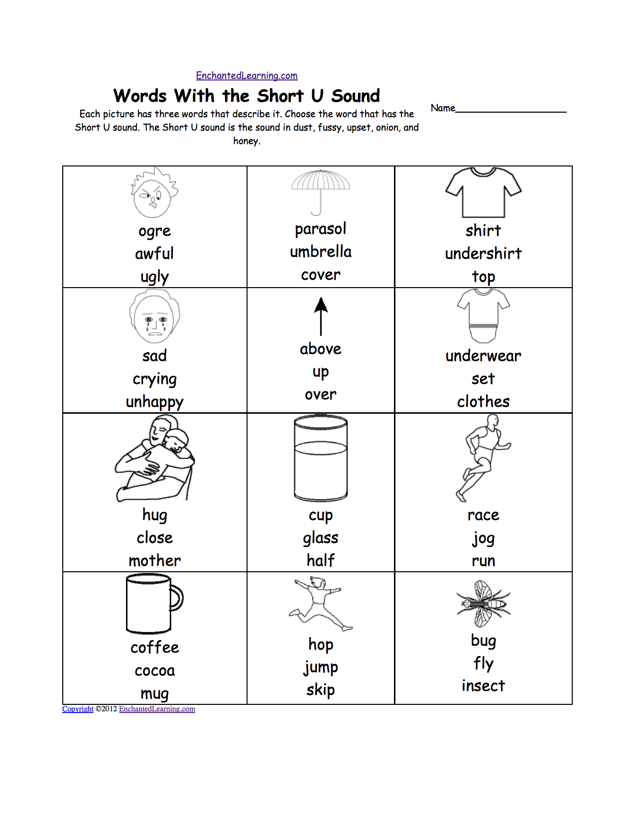 Short I Worksheets