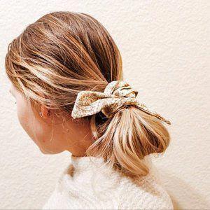 HAIR SCARF PONYTAIL scarf for hair white Gray hair scarf | Etsy