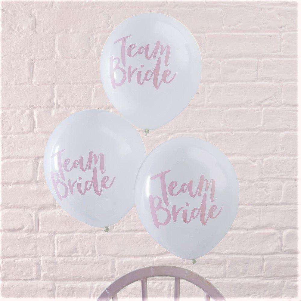 Team Bride Ginger Ray Designer Team Bride Hen Party Balloons x 10
