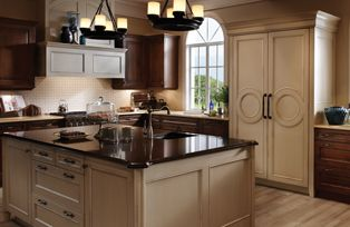 Hudson Valley Kitchen | Wood Mode | Fine Custom Cabinetry | Mixed Finishes