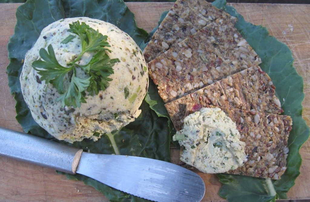 raw vegan herbed cheese (made with almonds)