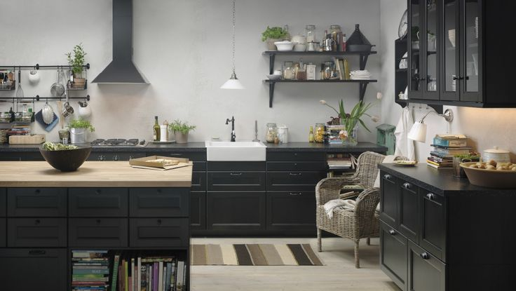 Ikea Kitchen Black laxarby kitchen - google search | kitchen | pinterest | google