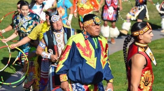 Opening-procession-of-Native-Hoop-Dancing-at-Heard-Museum-Phoenix-Arizona