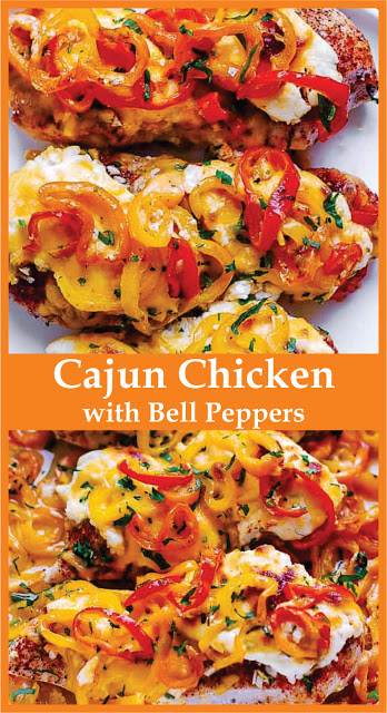Cajun Chicken with Bell Peppers #bellpepperrecipes
