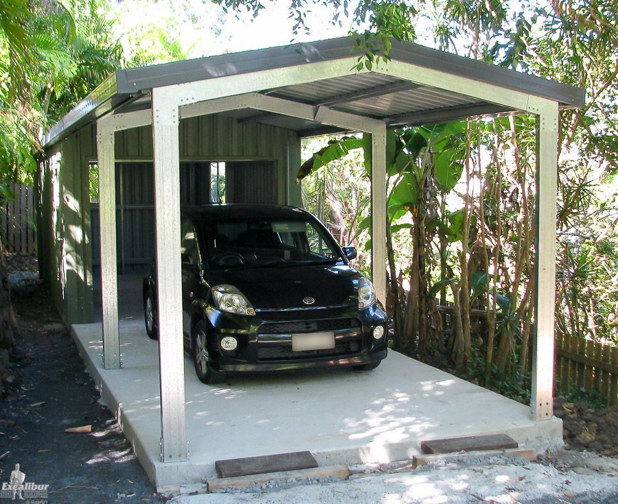 Small Shed half enclosed and half open for storage space