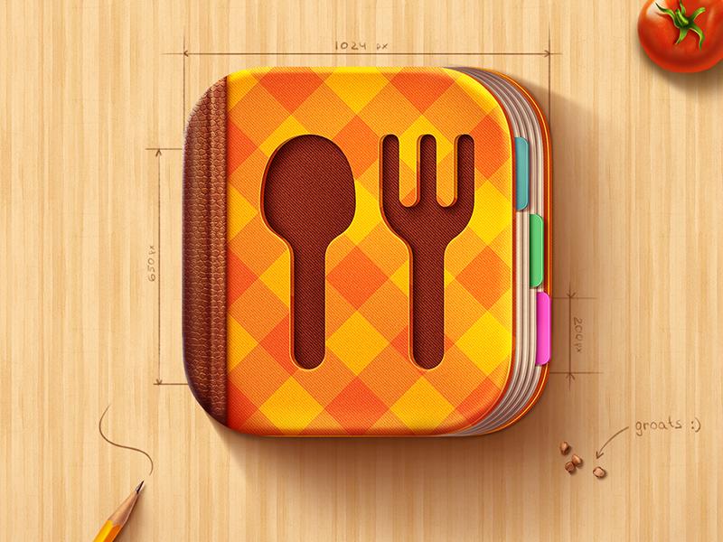iOS Icon for Cook Book app Ícone ios, Ícone de app e Ios