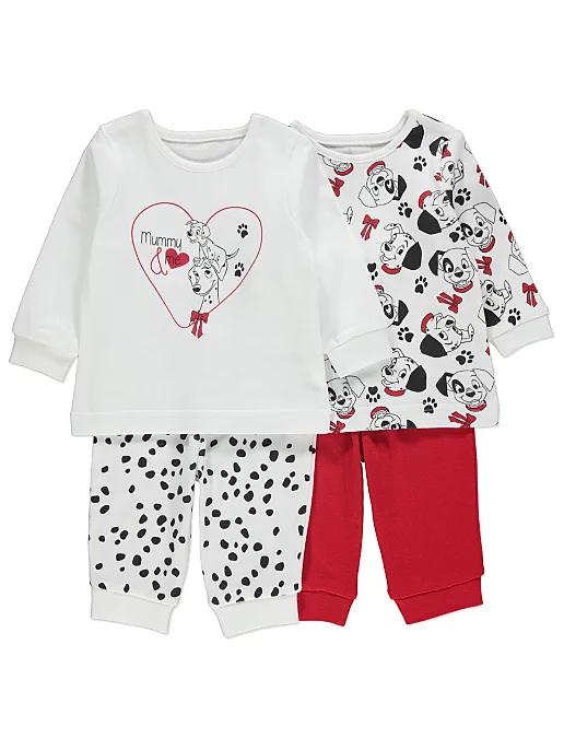 Disney 101 Dalmatians Pyjamas 2 Pack Baby George Baby George Pack Baby Baby Onesies