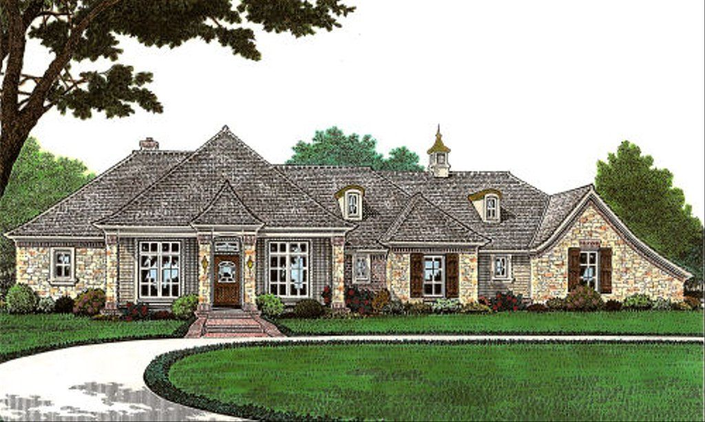 European Style House Plan 2 Beds 2 5 Baths 1959 Sq Ft Plan 310 646 French Country House French Country Exterior French Country House Plans