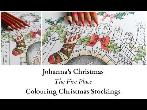 johannas christmas the fire place colouring christmas stockings youtube