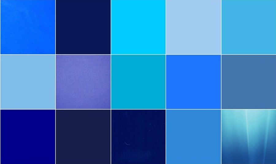 Different Shades Of Blue Paint blue color is an extremely radiant and bright color that has