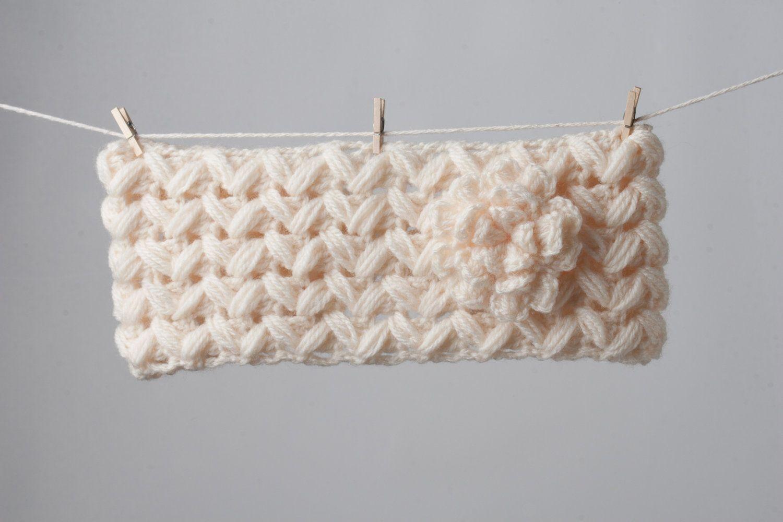PDF Pattern Crochet Headband Zig-Zag with Flower Newborn to Adult Sizes. $4.90, via Etsy.