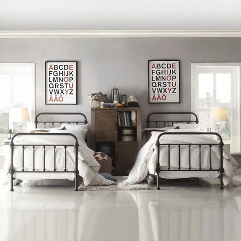 Tilden standard metal bed antique bronze twin boys - Bed frames for small rooms ...