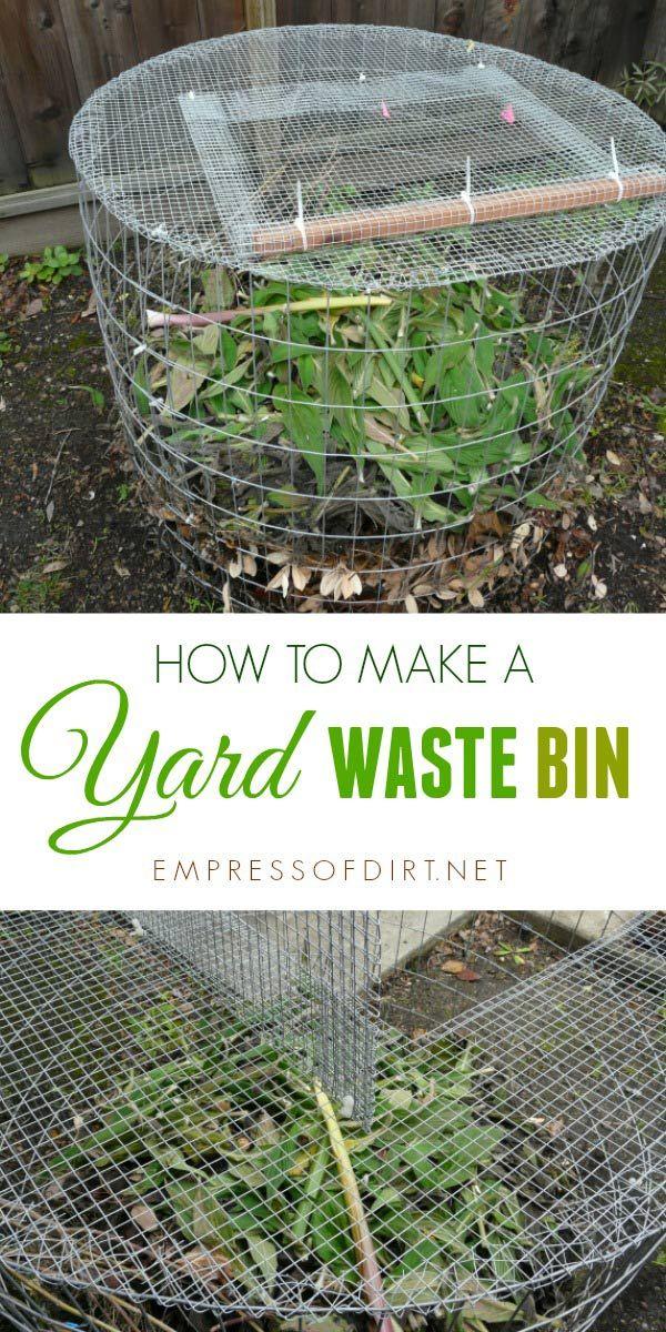 How to Make a Yard Waste Bin Yard waste, Garden compost