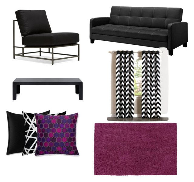 """""""Purple Inspiration Living Room Decor"""" by kameatisdale on Polyvore featuring interior, interiors, interior design, home, home decor, interior decorating, Hearts Attic, St. Croix, Kartell and Betsey Johnson"""