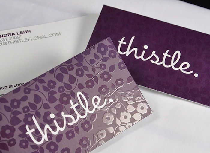 Sleek Looking Embossed Spot Uv Gloss Business Cards New Business Card Designs Visitenkarten Karten