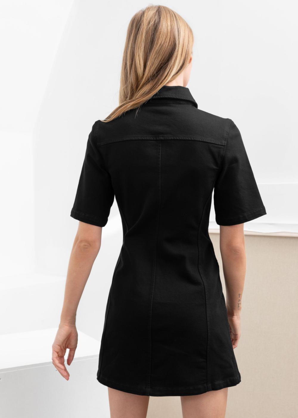Structured Denim Mini Dress Denim Mini Dress Mini Dress Mini Black Dress [ 1400 x 1000 Pixel ]
