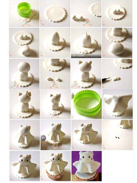 Pin by Ксения Рыбальченко on Уроки полимерная глина Pinterest - hello kitty halloween decorations
