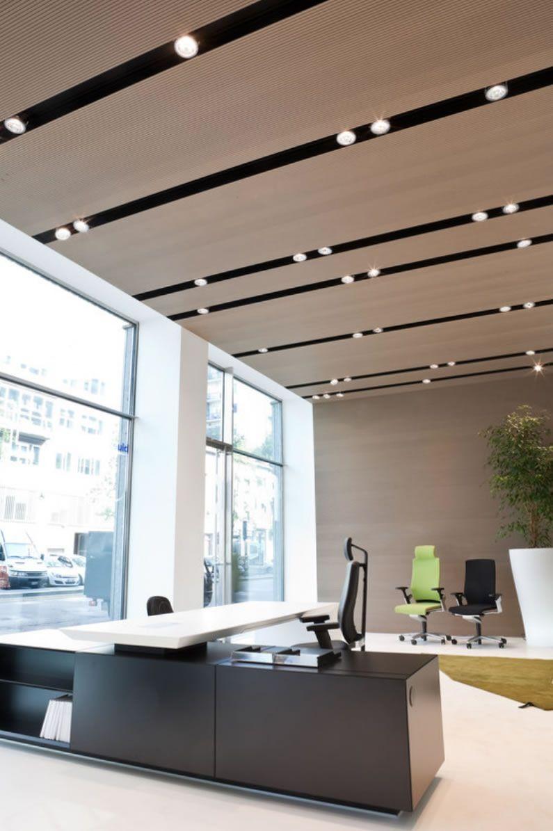 Ceiling Design Ideas ceiling design ideas Ceiling Office Design Office Lighting Design Office Table Design Corporate Ceiling Design Office Designs Ceiling Linear Light Ceiling
