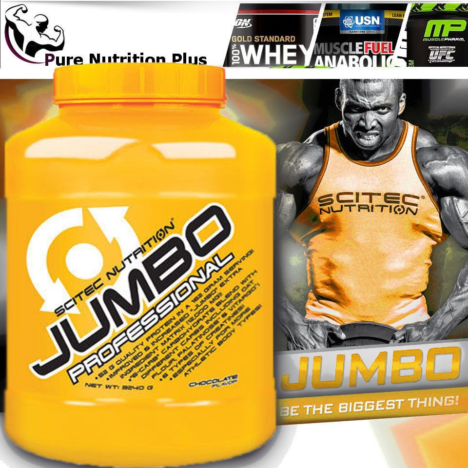 524a35d49 NEW SCITEC NUTRITION JUMBO PROFESSIONAL PROTEIN WEIGHT GAINER CREATINE BCAA   s