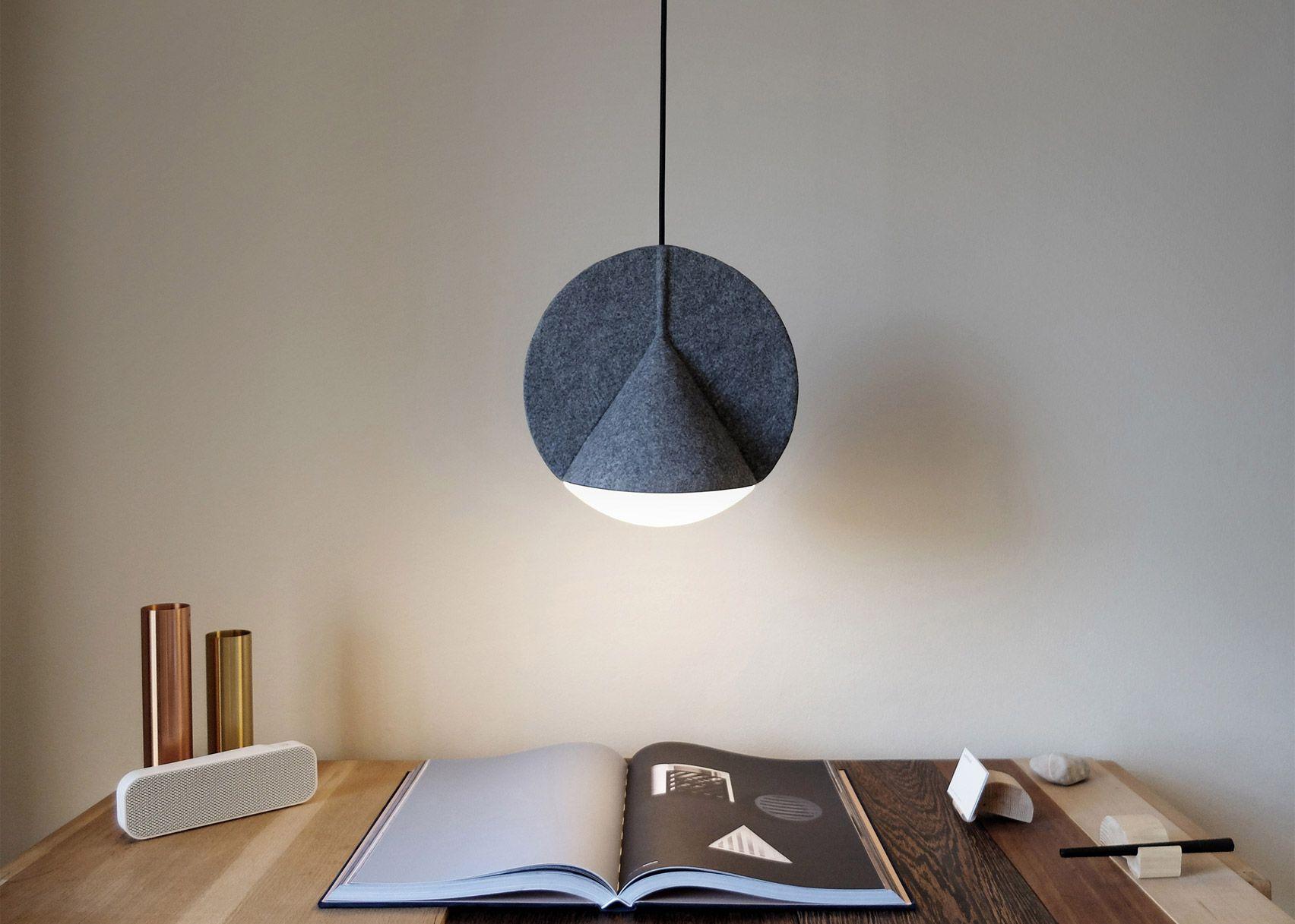 Outofstock designs geometric felt Stamp lamp for Bolia