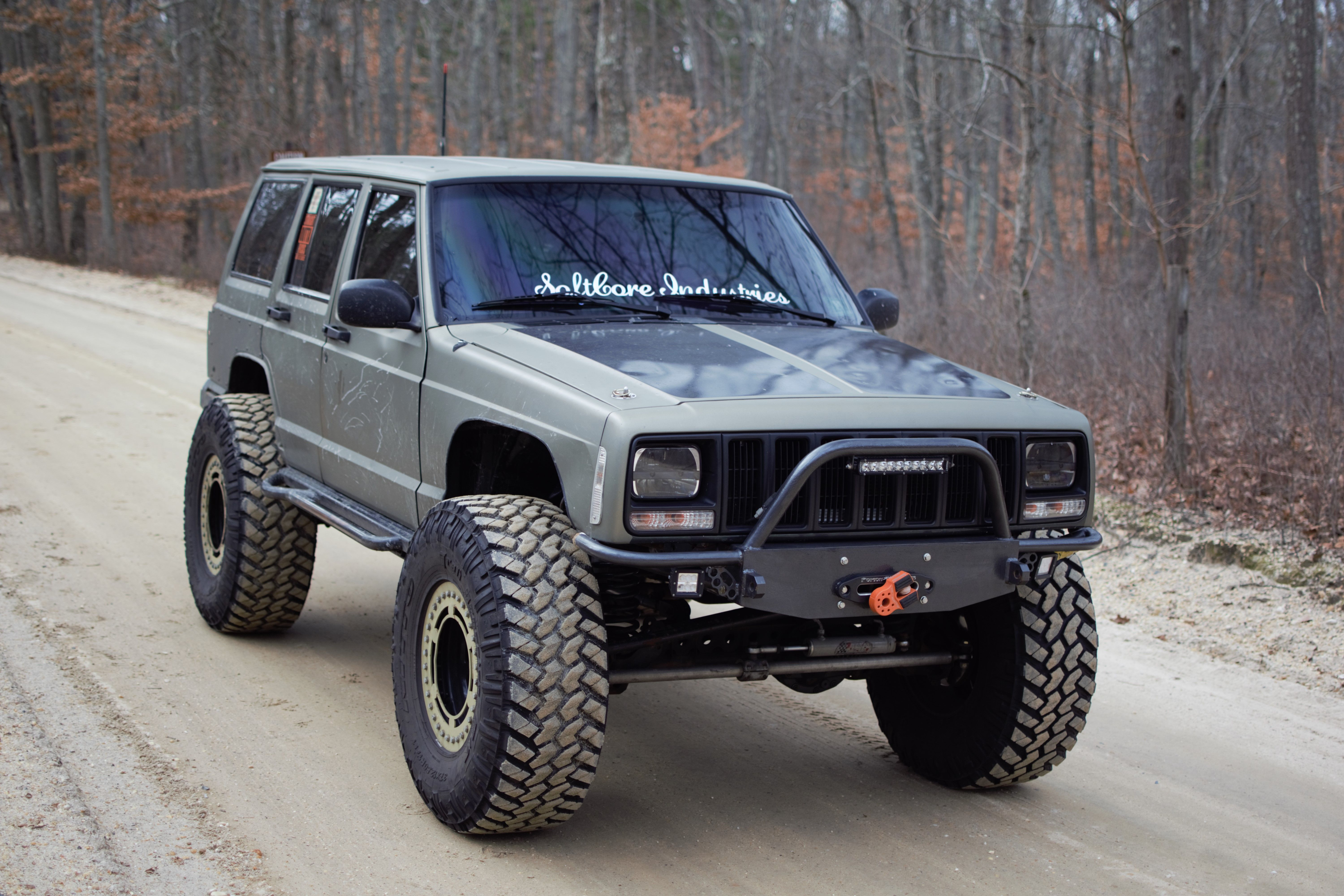 Recessed Stubby Winch Bumper Jeep Cherokee Xj Jeep Cherokee Xj Jeep Xj Jeep Xj Mods