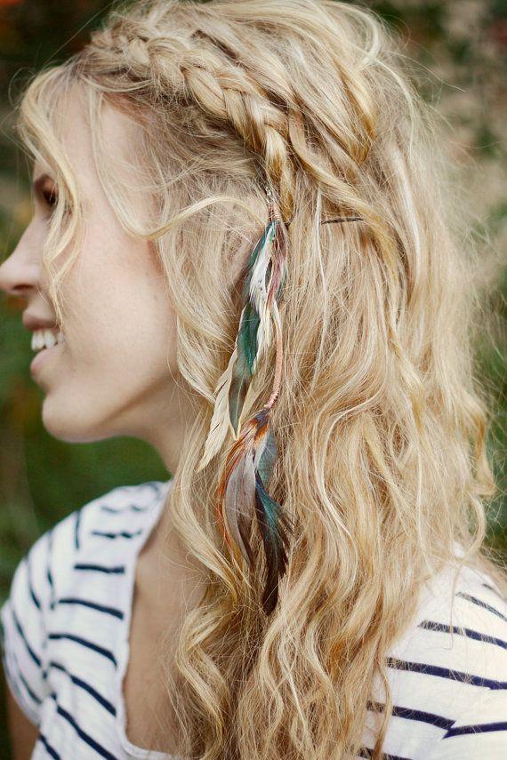 Long Hair Feathers Hair Extension Clips Hair Frisuren Locken