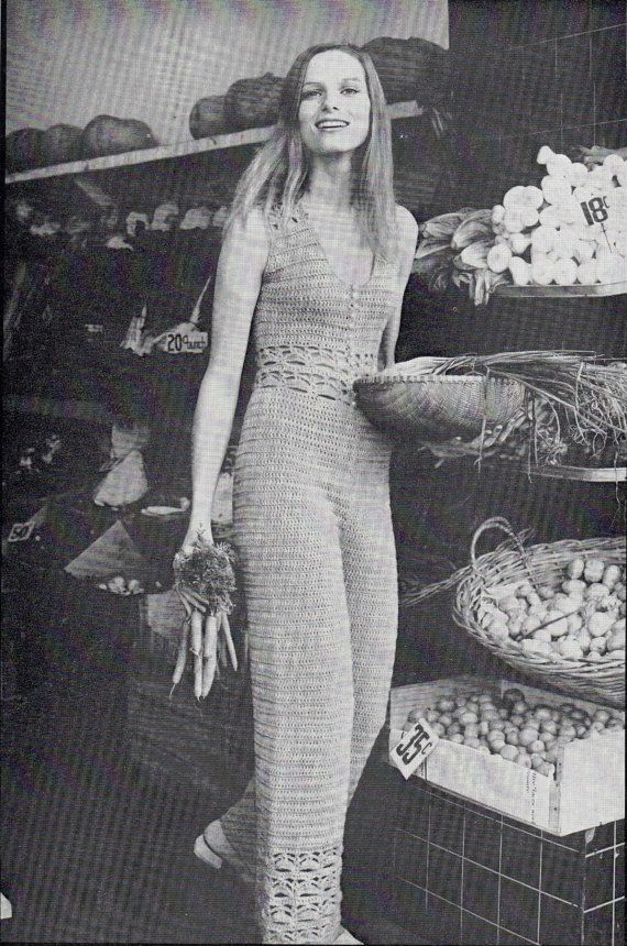 26223bdd3119 This is a PDF copy of a pattern for a crocheted womens Jumpsuit. Sizes 32