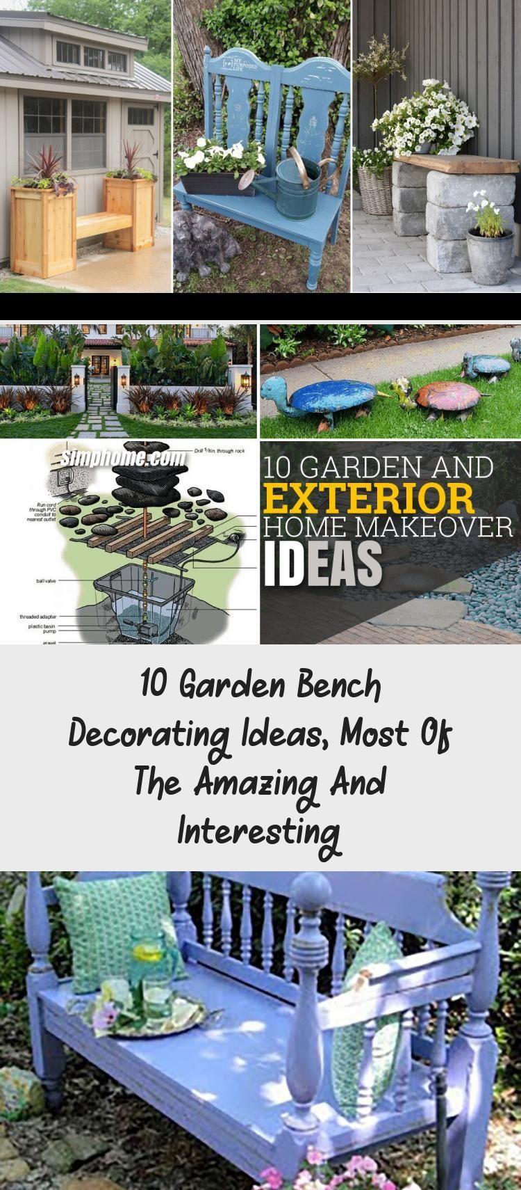 10 Garden Bench Decorating Ideas Most Of The Amazing And Interesting Pallet Amazing Be Gartenbank Gartenprojekte Mit Holzpaletten