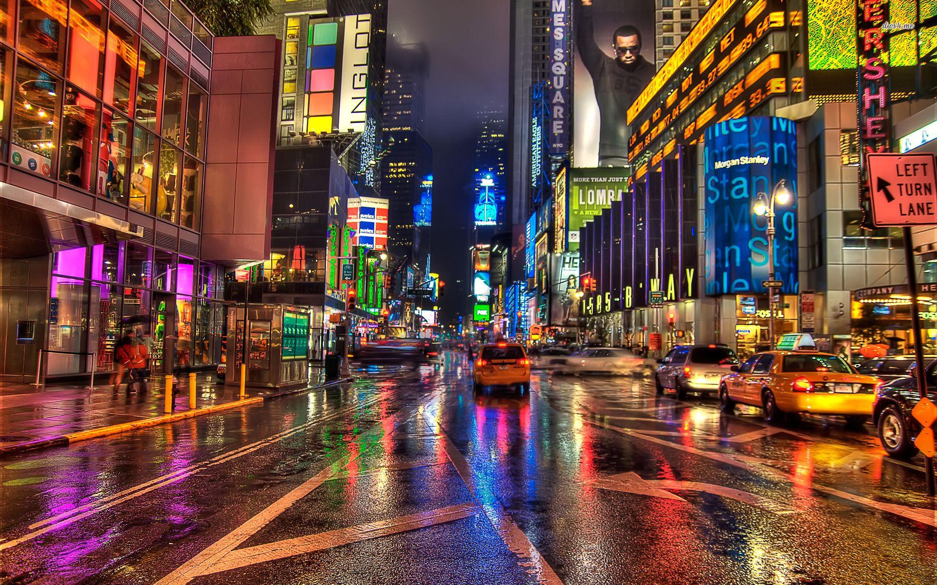 Http Kindawarped Com Wp Content Uploads New York City Street World Hd Wallpaper 89361 Jpg Times Square New York City Manzara