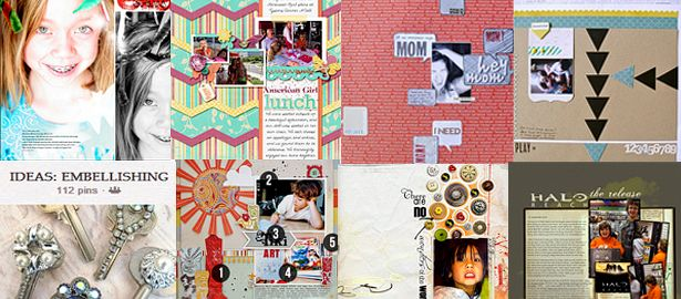 75+ Links for Finding and Using Scrapbook Page Inspiration