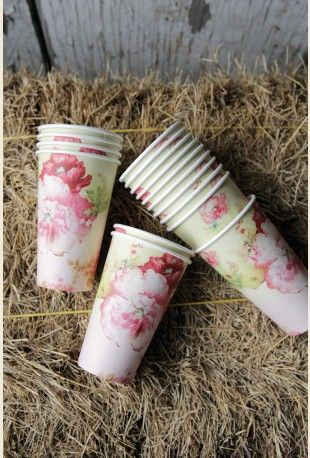glamping paper cups-set of 16!