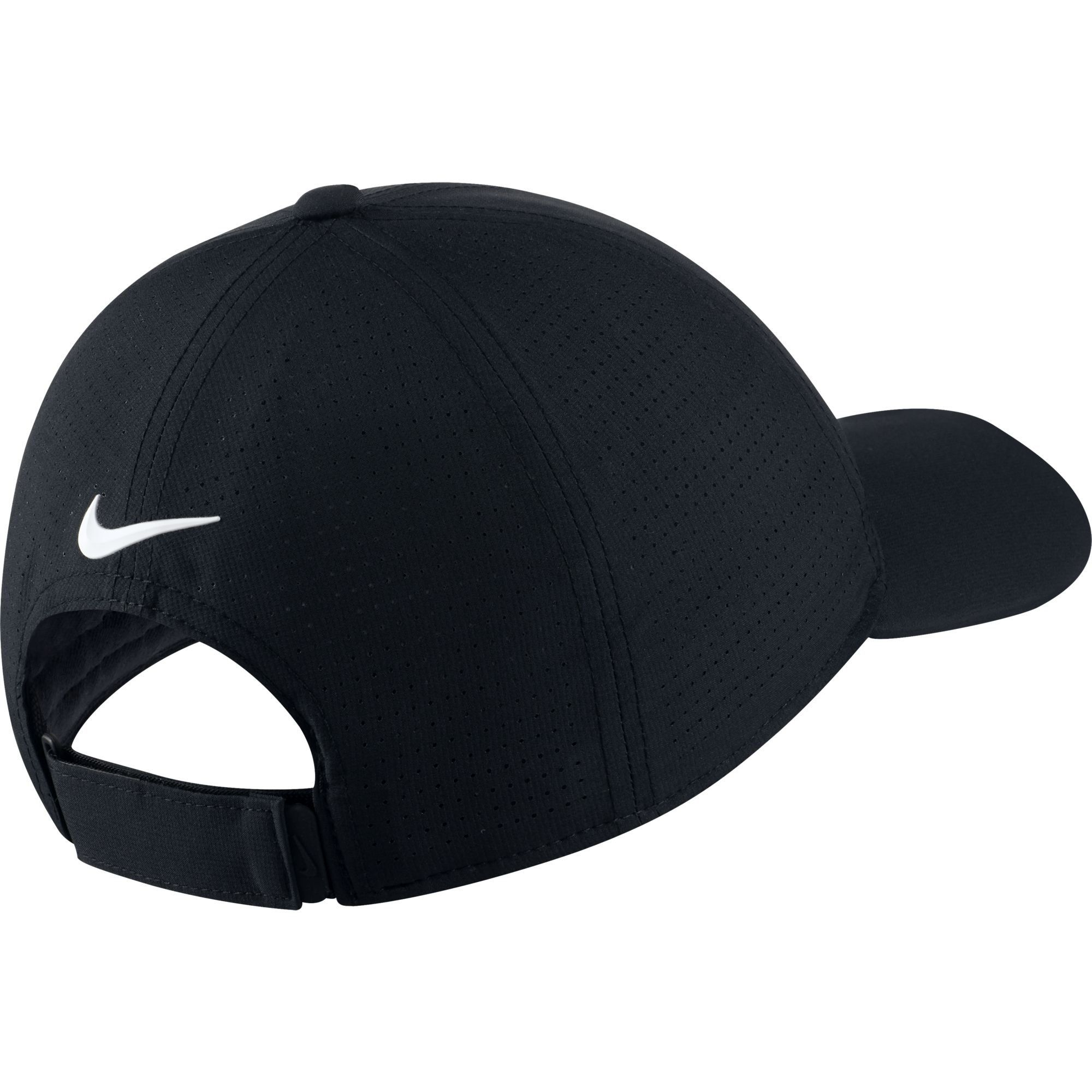 7d185bd7 Women Golf Clothing - NIKE Womens AeroBill Legacy 91 Perforated Cap Black/ Anthracite/White One Size