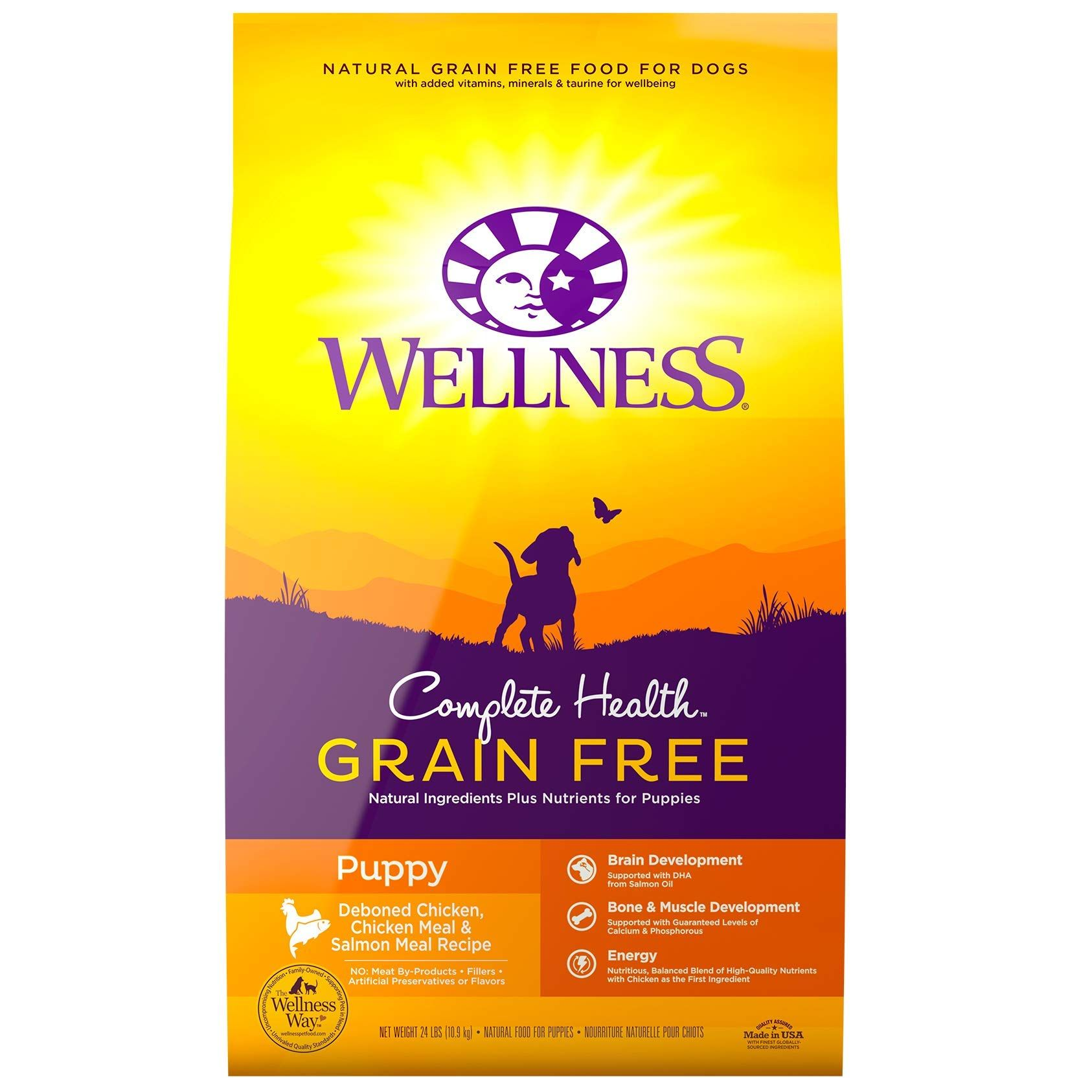Wellness Complete Natural Food 24 Pound In 2020 Dog Food Recipes Grain Free Puppy Food Grain Free