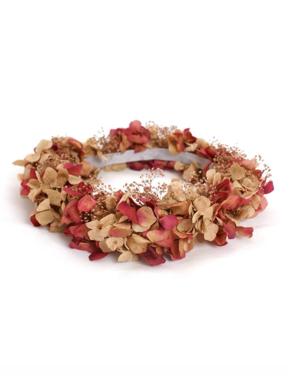 Tocado para el pelo corona flores rojas tocados para - Coronas de flore ...