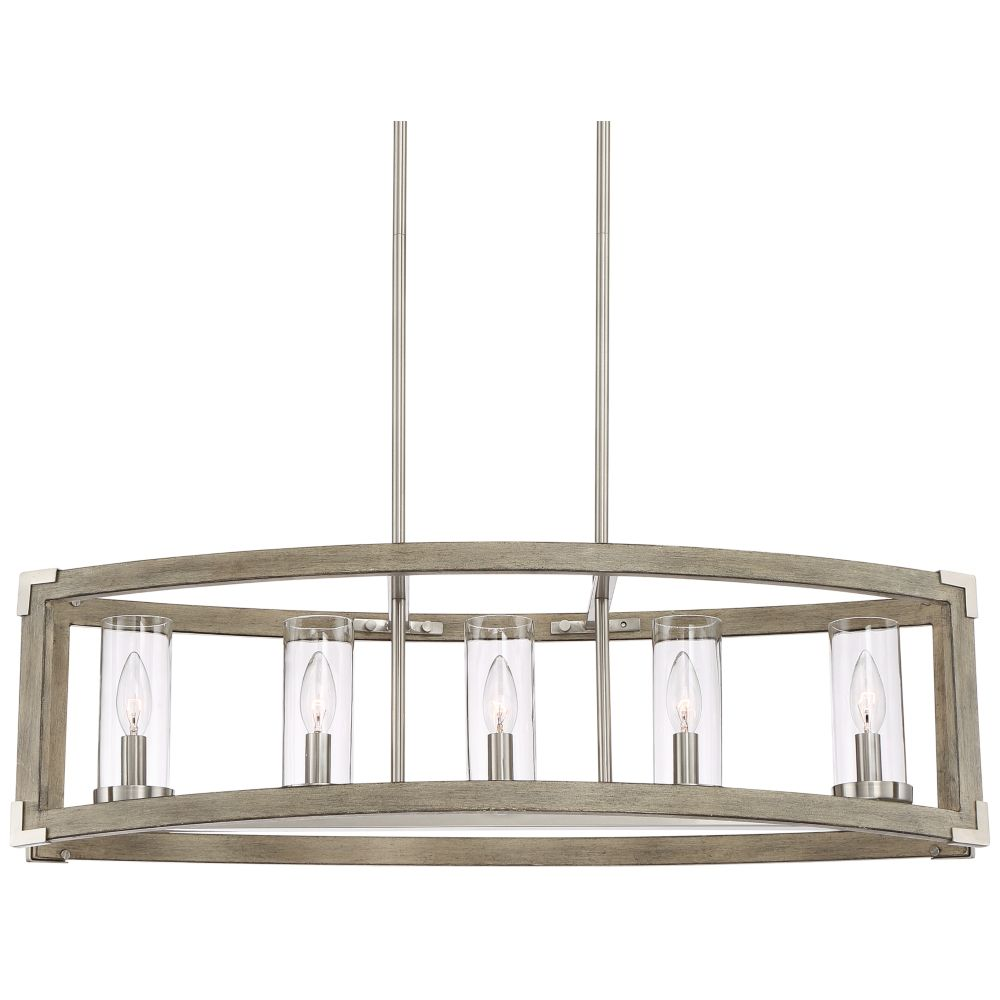 Kerr 32 34 wide wood and brushed nickel 5 light chandelier kerr 32 34 wide wood and brushed nickel 5 light chandelier arubaitofo Images