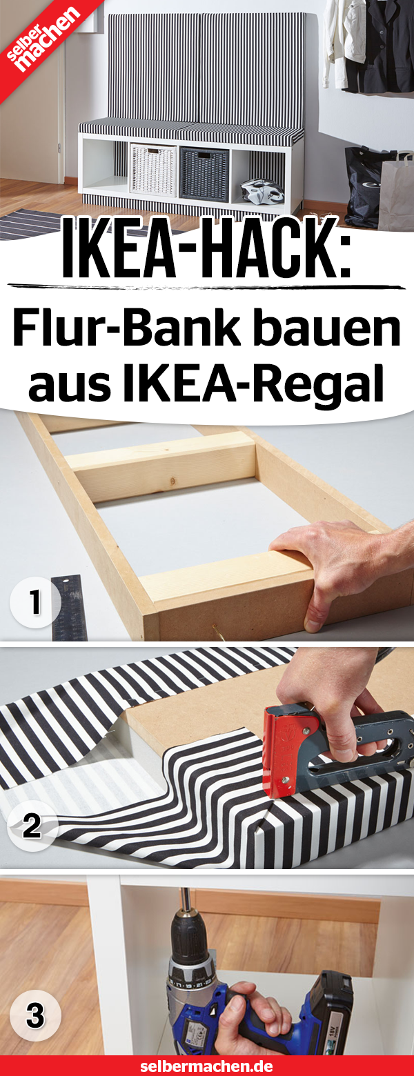 Flur-Bank aus IKEA-Kallax-Regal bauen