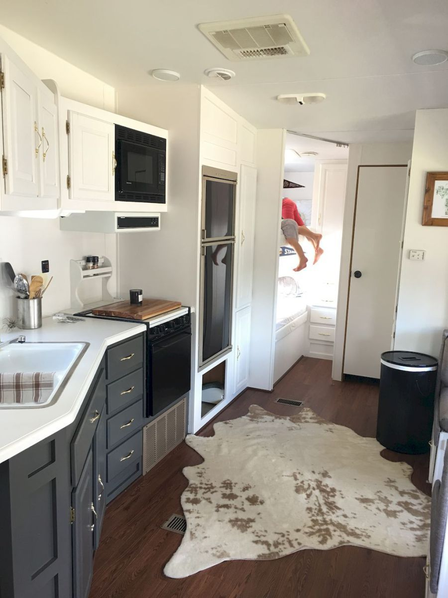 Easy Rv Travel Trailers Camper Remodel Ideas On A Budget 18