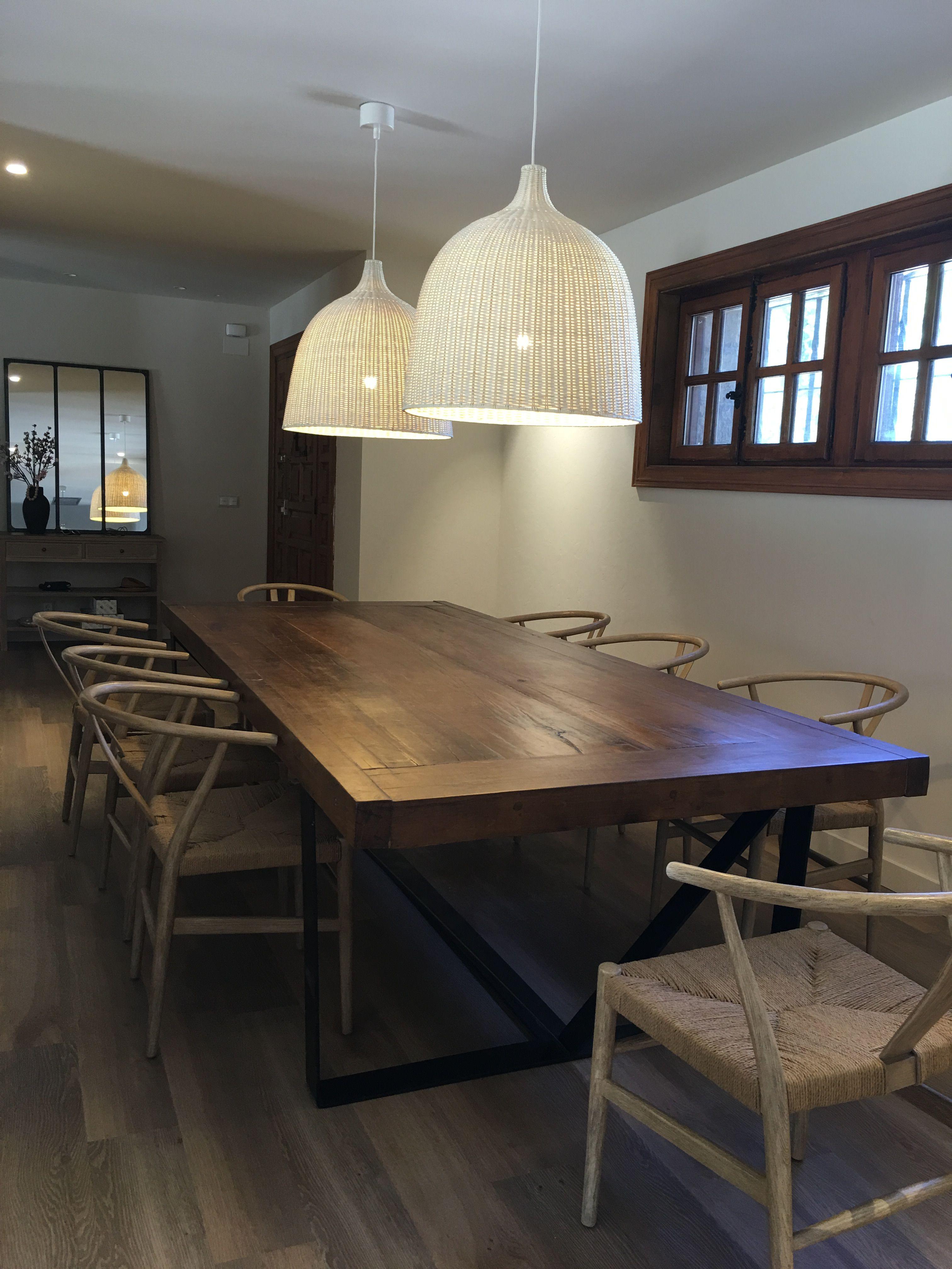Decoracion del hogar. Comedor. Mesa comedor grande de madera ...